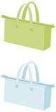 Purse / Handbags. 2 handbags isolated on white background (illustration Stock Photos