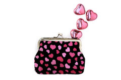 Purse hearts and love Stock Image