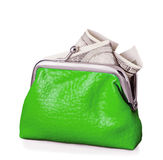 Purse with hundred dollars banknote isolated Royalty Free Stock Photo