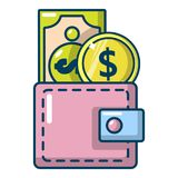 Purse icon, cartoon style Stock Images