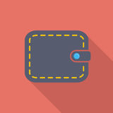 Purse icon. Flat vector related icon with long shadow for web and mobile applications. It can be used as - logo, pictogram, icon, infographic element. Vector Royalty Free Stock Photos