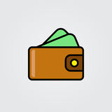 Purse icon. Illustration  on white background for graphic and web design. Stock Photos