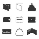 Purse icon set. Set of isolated icons on a theme purse Stock Photo