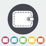 Purse icon. Purse. Single flat icon on the circle. Vector illustration Royalty Free Stock Photo