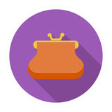 Purse icon. Purse. Single flat color icon. Vector illustration Stock Photo