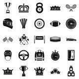 Purse icons set, cartoon style. Purse icons set. Cartoon set of 25 purse vector icons for web isolated on white background Royalty Free Stock Photography