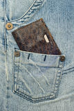 Purse and jeans Royalty Free Stock Photo