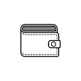 Purse line icon, business financial Stock Images