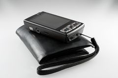 Purse and mobile phone Stock Image