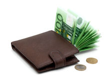 Purse with money Royalty Free Stock Images