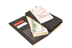 Purse with money. Stock Image