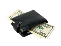 Purse and money. Royalty Free Stock Photos