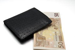 Purse with money Stock Image
