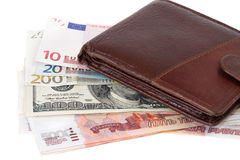 Purse and money Royalty Free Stock Image
