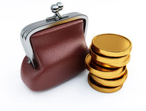 Purse and money Stock Photography