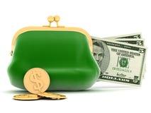 Purse and money Stock Photos
