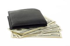Purse with money Stock Images
