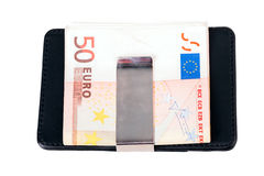 Purse, money, euro Royalty Free Stock Image