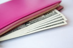 Purse with money Stock Photo