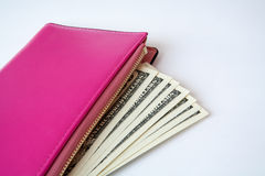 Purse with money Stock Photos