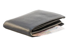 Purse with money isolated Stock Images