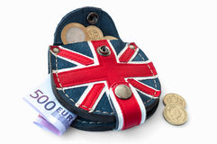Purse money. Isolated on white background royalty free stock photos