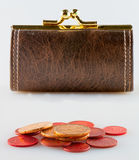 Purse and money Stock Image