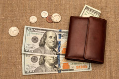 Purse money Royalty Free Stock Photos