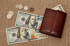 Purse money Royalty Free Stock Photography