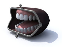 Purse with open mouth on a white background Stock Photo