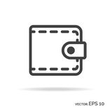 Purse outline icon black color Stock Photography
