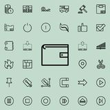 Purse outline icon. Detailed set of minimalistic line icons. Premium graphic design. One of the collection icons for websites, web. Design, mobile app on Stock Photography