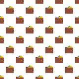 Purse pattern seamless. In flat style for any design Stock Photography