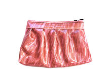 Purse pink on isolated Stock Photography