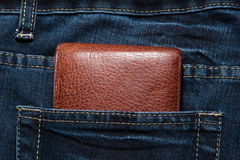 Purse in the pocket Royalty Free Stock Photo