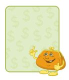 Purse and poster with dollars Stock Images