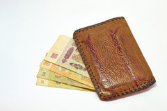 Purse. With russian old money RUR 1961 year Stock Photos