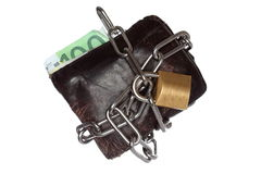 Purse security Royalty Free Stock Image