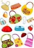 Purse set Royalty Free Stock Images