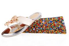 Purse & shoes Royalty Free Stock Images