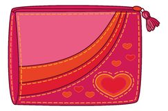Purse with valentine hearts Royalty Free Stock Photos