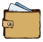 Purse. Vector drawing Royalty Free Stock Photos