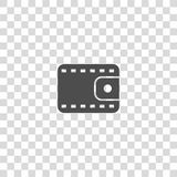 Purse vector icon. On white background Stock Photos