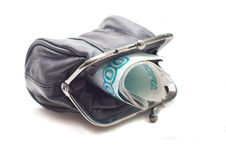 Purse on white background Stock Photography