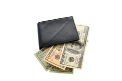 Purse With Money Stock Photography