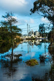 Pursell Street Under Water Royalty Free Stock Images