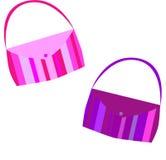 Purses. Magenta and purple striped purses vector illustration