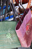 Purses. Colorful handmade purses for sale in Costa Rica Stock Photos