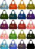 Purses. A collection of ladies hand bags Royalty Free Stock Photo