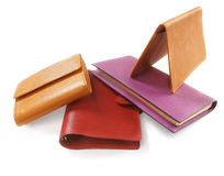 Purses and block-note Royalty Free Stock Photo
